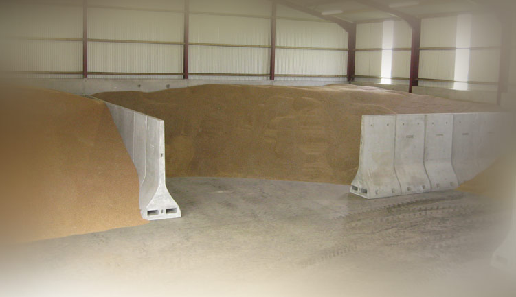 Free Standing Concrete Silage Panels New Chip Bay Panels